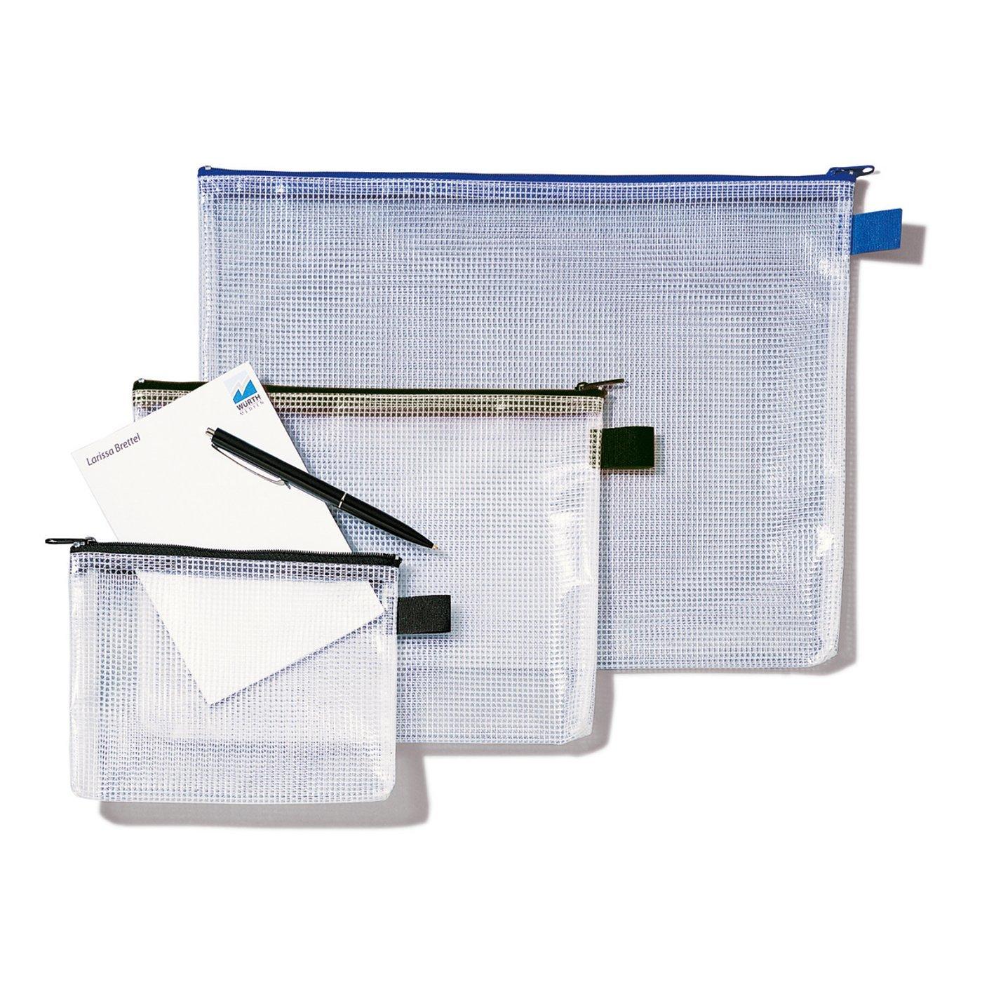 Rexel A5/Sacchetti in rete e corpo trasparente con zip Nero 1 Confezione Transparent