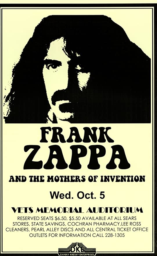Frank Zappa impresión fotográfica Poster Regalo