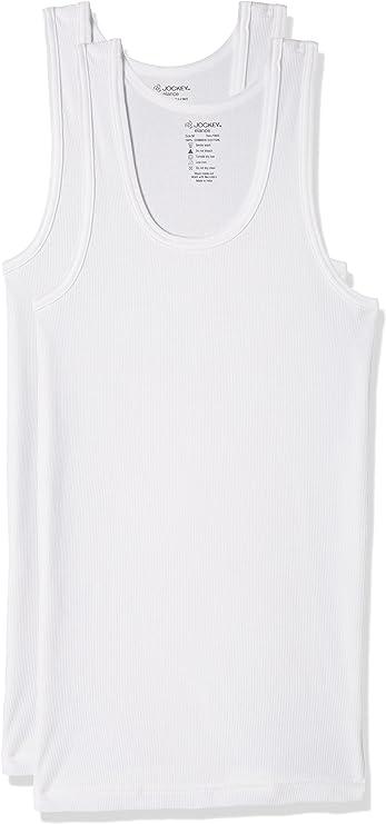 Jockey Men's Cotton Undershirt (Pack of 2) (Modern Classic)(Colors & Print May Vary) Men's Underwear Vests at amazon