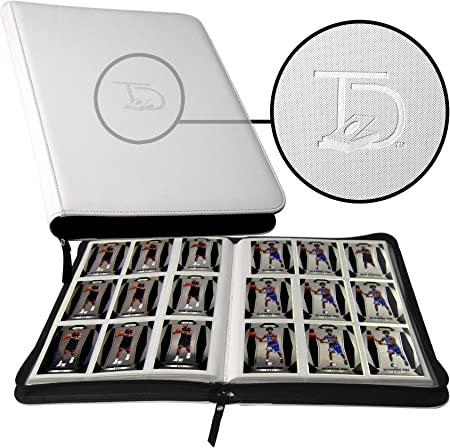TopDeck 500 Card Pocket Binder Pro | 9 Pocket Trading Cards Album | Side Load Sleeves | Pokemon/MTG/Yugioh/TCG Folder | Trading & Sports Holder | (White)