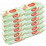 Huggies Baby Wipes Natural Care with Aloe Vera, 56 Count, Pack of 12, Total 672 Wipes