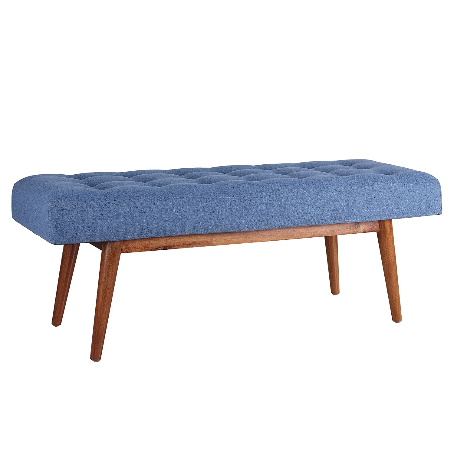Porthos Home Etheline Side Bench, Blue