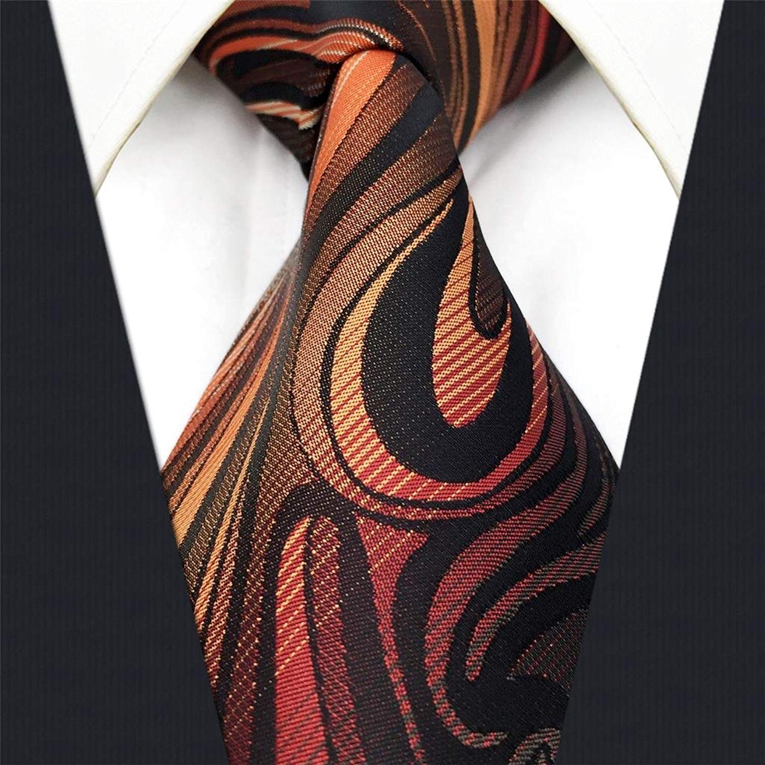 Shlax&Wing New Mens Necktie Pocket Square Set 57.5 63 Extra Long Silk Tie Set NPSET-AS19