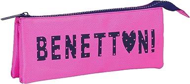United Colors Of Benetton- Benetton Estuche portatodo Triple, Color Rosa (SAFTA 811651744): Amazon.es: Ropa y accesorios