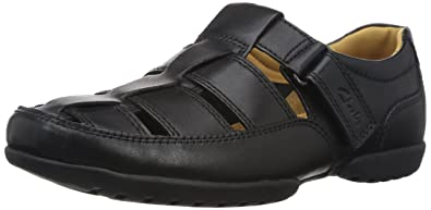 eed6847f3d Clarks Recline Open 20349642 Herren Slip On, schwarz (Black Leather), 41 EU