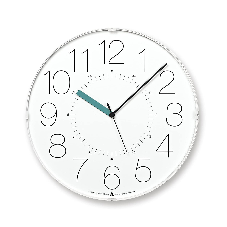 Lemnos CARA 電波時計 ホワイト(ブルー針) B00H8LJTFQ ホワイト(ブルー針) ホワイト(ブルー針)