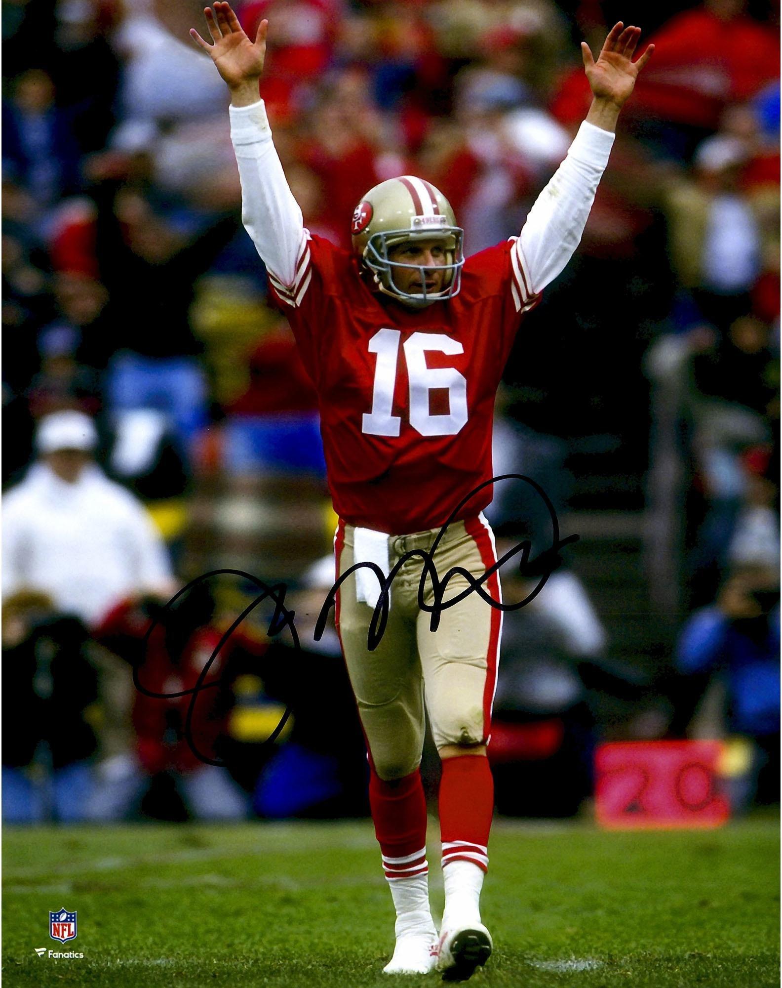 "Joe Montana San Francisco 49ers Autographed 8"" x 10"" Hands Up Photograph Fanatics Authentic Certified"