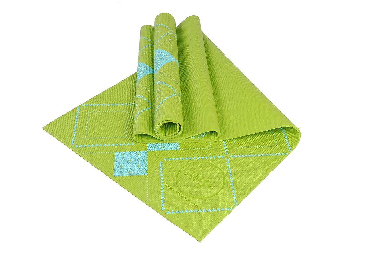 Maji Sports PVC 2 Tone Embossed Yoga Mat Blue 1766571