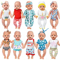 ZITA ELEMENT 10 Sets 14 - 16 Inch Baby Doll Clothes Dress Swimsuits Jumpsuits Headbands for 43cm New Born Baby Doll, 15…