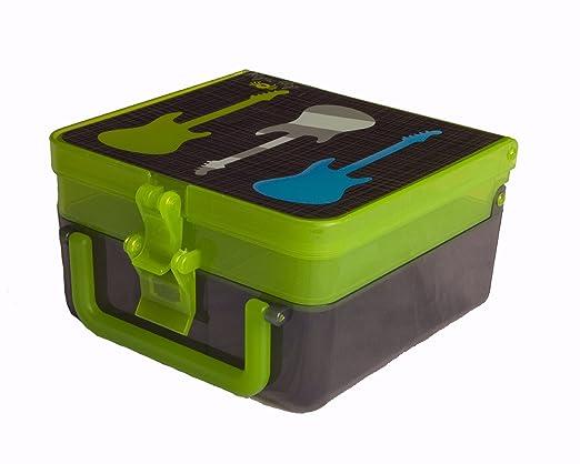 e047915e160d Amazon.com: Itzy Ritzy Lunch Happened Bento Lunch Box, Rock Star ...