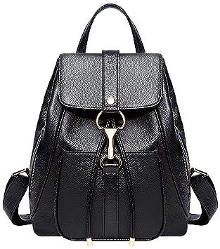 2d6d3f791107a AMLU Echtes Leder Rucksäcke Geldbörse für Frauen Damen Mode Reise  Umhängetasche