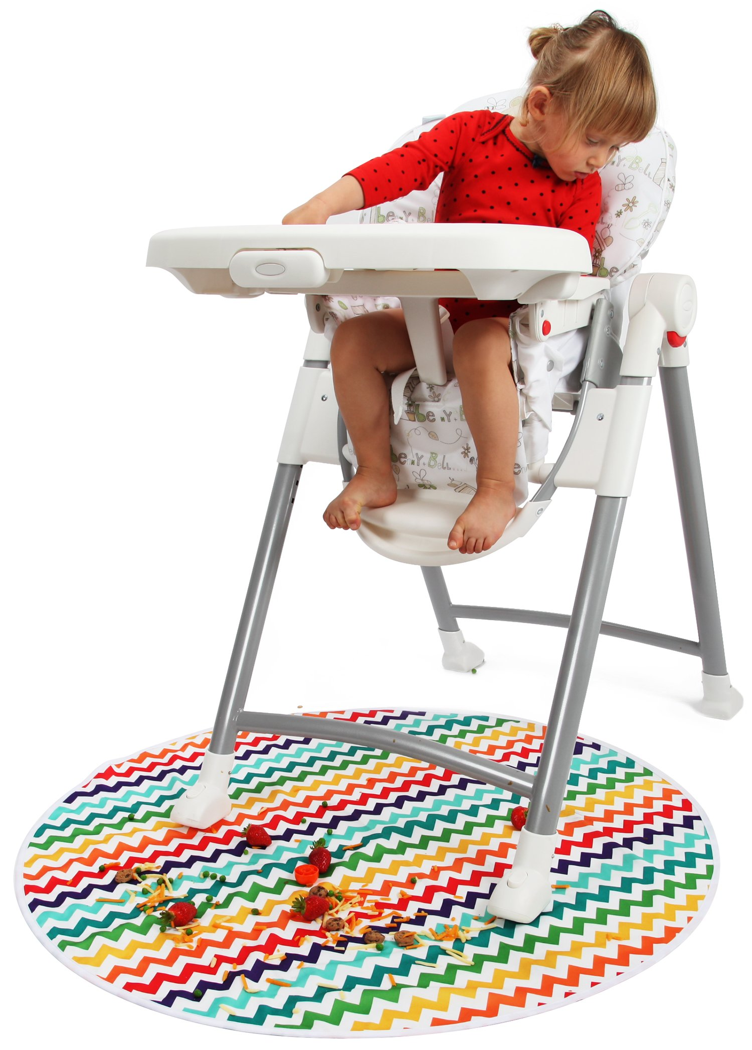 kenley baby splat mat for under high chair waterproof washable