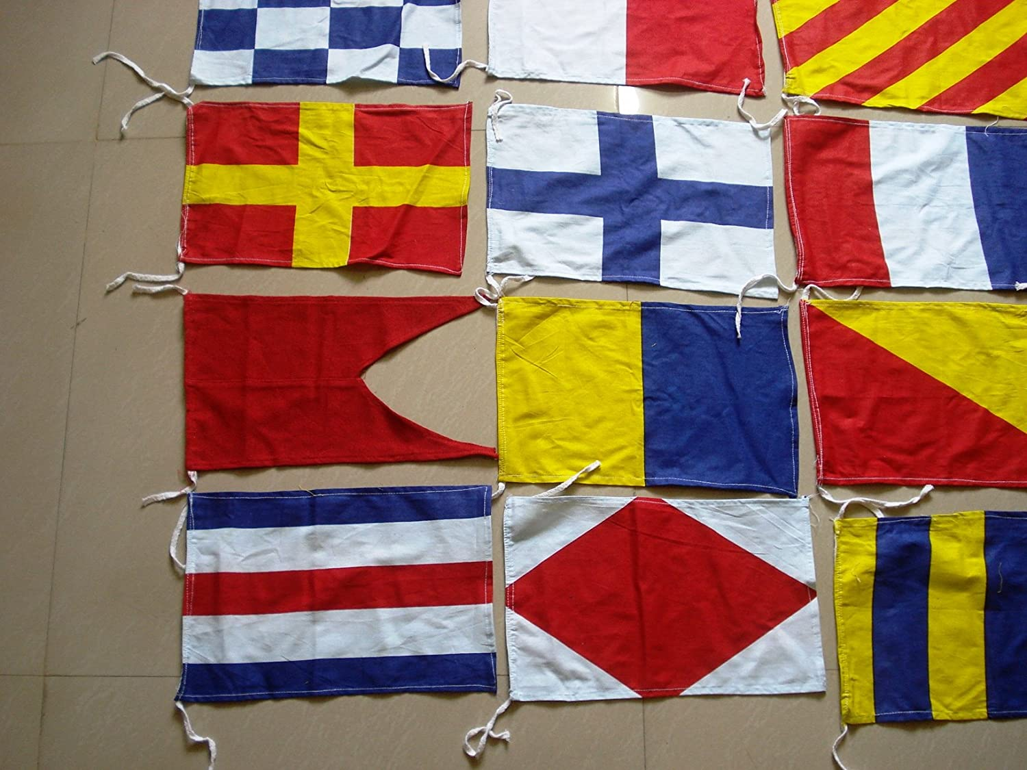 Brass Blessing International Maritime Signal Flags Nautical//Marine//Boat//Yacht//Beach Party Complete Set