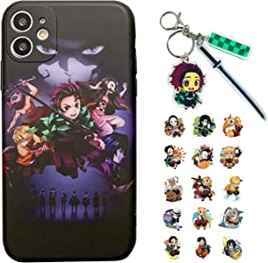 Anime iPhone Case, Compatible with iPhone 11, Compatible with iPhone 12/Xr/Xs,Comes with Keychain and Stickers