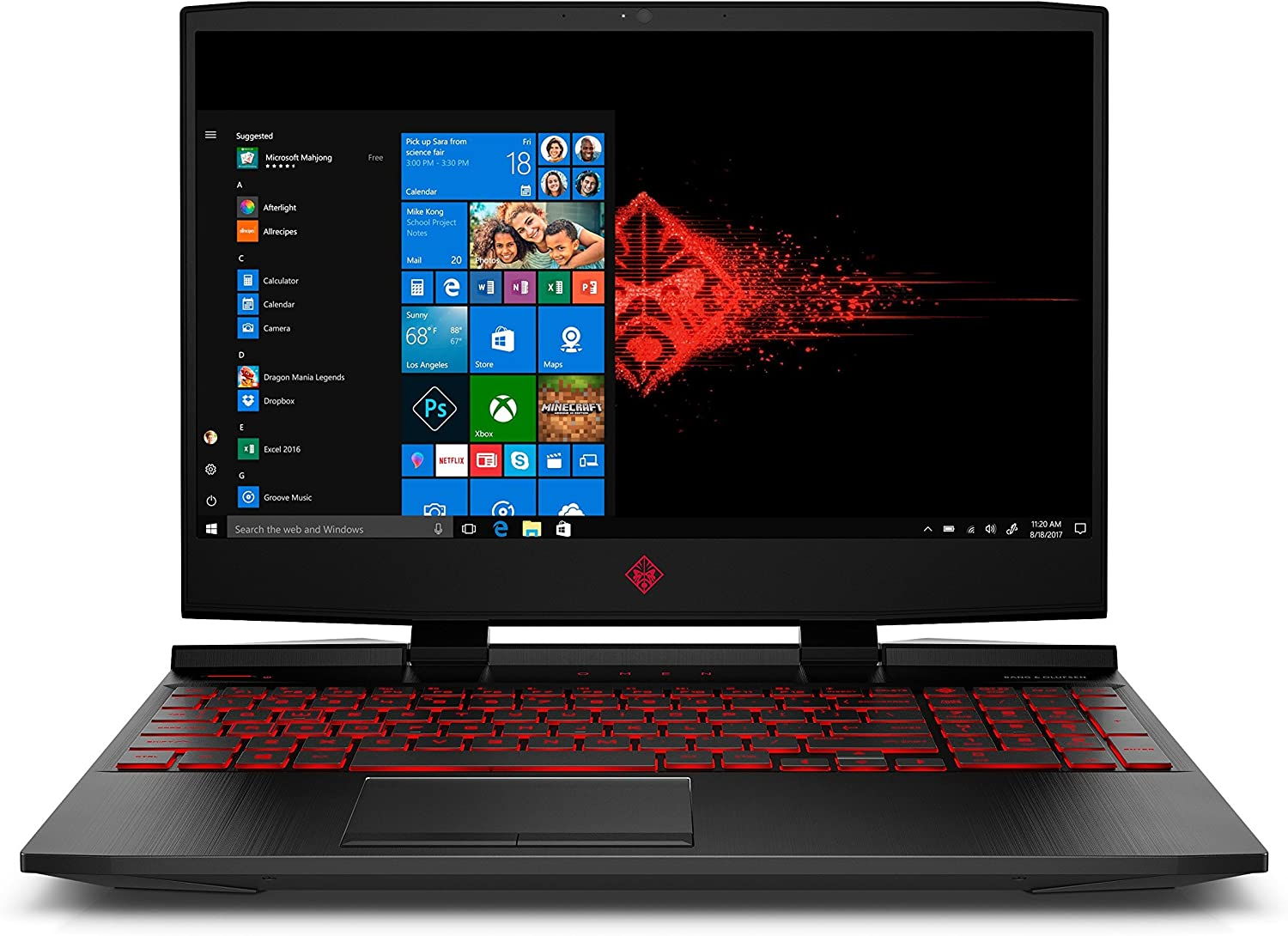 OMEN by HP 15.6in Gaming Laptop, i7-8750H, GeForce GTX 1050TI 4GB, FHD 12GB RAM, 128GB PCIE SSD & 1TB HDD, Windows 10 (15-dc0020nr, Black), Metal Chassis (Renewed)