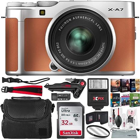 FUJIFILM X-A7 Cámara digital sin espejo con lente de 15-45 mm ...