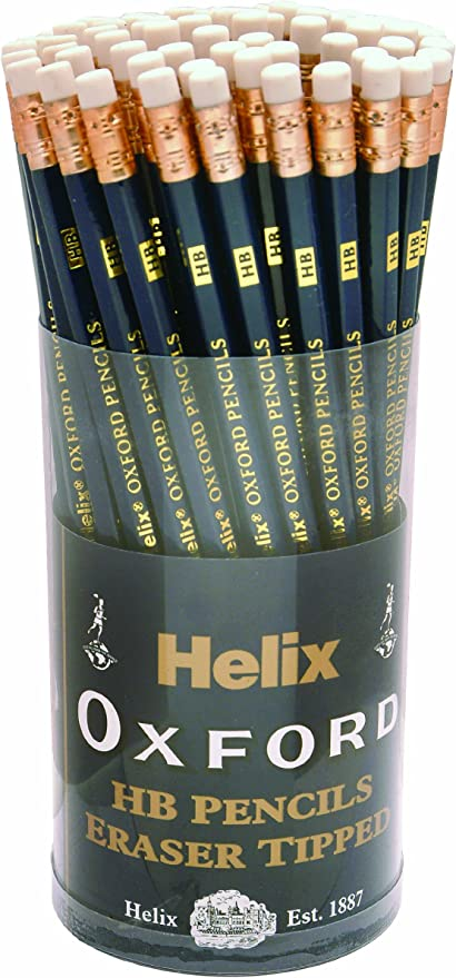 5 x HELIX OXFORD Erasers Large Sleeve Rubber Pencil School Drawing Stationery