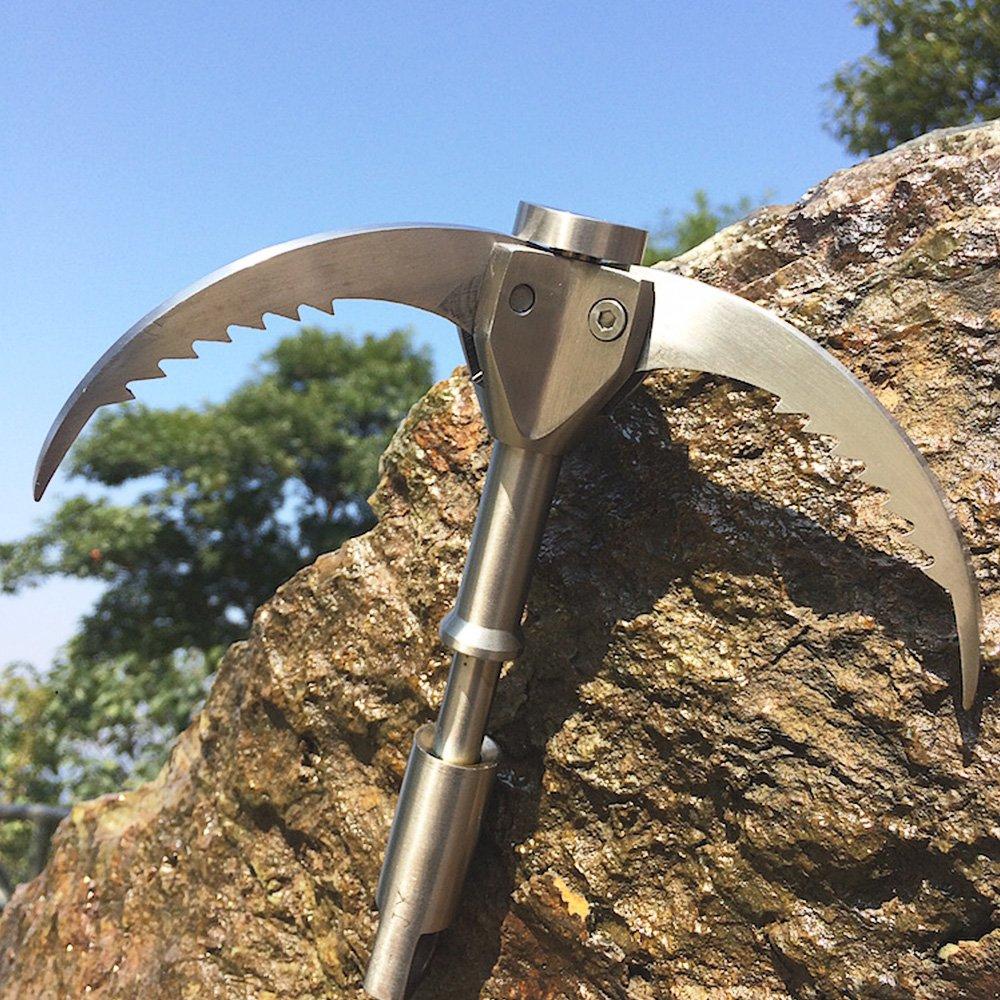 Gancho de escalada con 3 garras plegables de dientes de sierra con hasta 380 kg de carga de UMsky