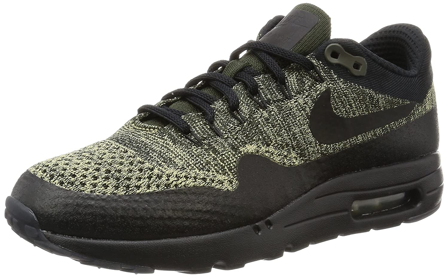 Nike Men's Air Max 1 Ultra Flyknit, BLACK/BLACK-ANTHRACITE B01L91F7A6 7 D(M) US|Neutral Olive Black Sequoia 203