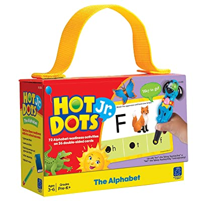 Educational Insights Hot Dots Jr. The Alphabet Card Set, Preschool and Kindergarten Readiness │Perfect for Homeschool and At-Home Learning: Toys & Games