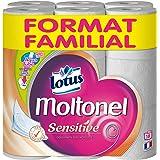 MOLTONEL Papier Hygiénique Sensitive Format Familial 18 Rouleaux