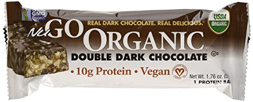 NuGo Nutrition, Organic Double Dark Chocolate, 12 Delicious Bars, 1.76 oz 50 g Each