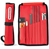 Oregon Chainsaw Field Sharpening Kit - Includes 5/32, 3/16, and 7/32 Inch Round Files, Flat File, Handle, Filing Guide, and P