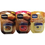 Vaseline Lip Therapy 0.25 Oz 3 Pack Bundle - Creme Brulee, Rosy Lips & Cocoa Butter