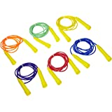 Sportime Color-Coded Vinyl Jump Ropes - 8 feet - Set of 6 - Assorted Colors