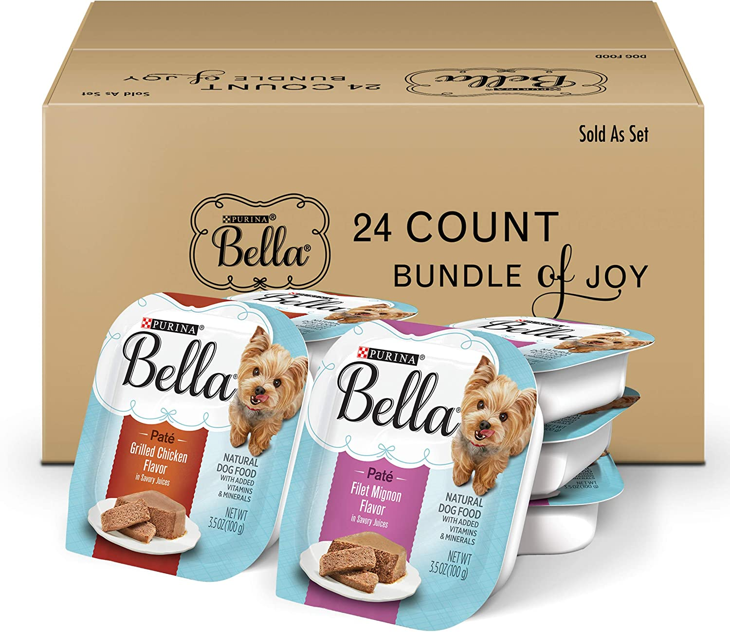 Purina Bella Single Serve Adult Wet Dog Food in Savory Juices Variety Packs
