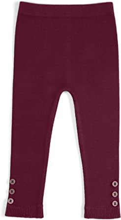 EMEM Unisex Baby Seamless Cotton Leggings in Solid, Bows, Ribbons or Buttons