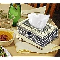 NISUN Attractive and Beautiful Decorative oxodised Tissue Box (Golden)