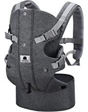 Newborn Baby Carrier Sling, Meinkind 2-in-1 Front and Backpack Baby Carrier for Newborn to Toddler Baby Sling (3.5 to 15 kg), Grey