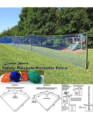 5f9c1020d USA Safety FLEXPOLE 4' Tall All Sports Baseball Softball Outfield Fence KIT