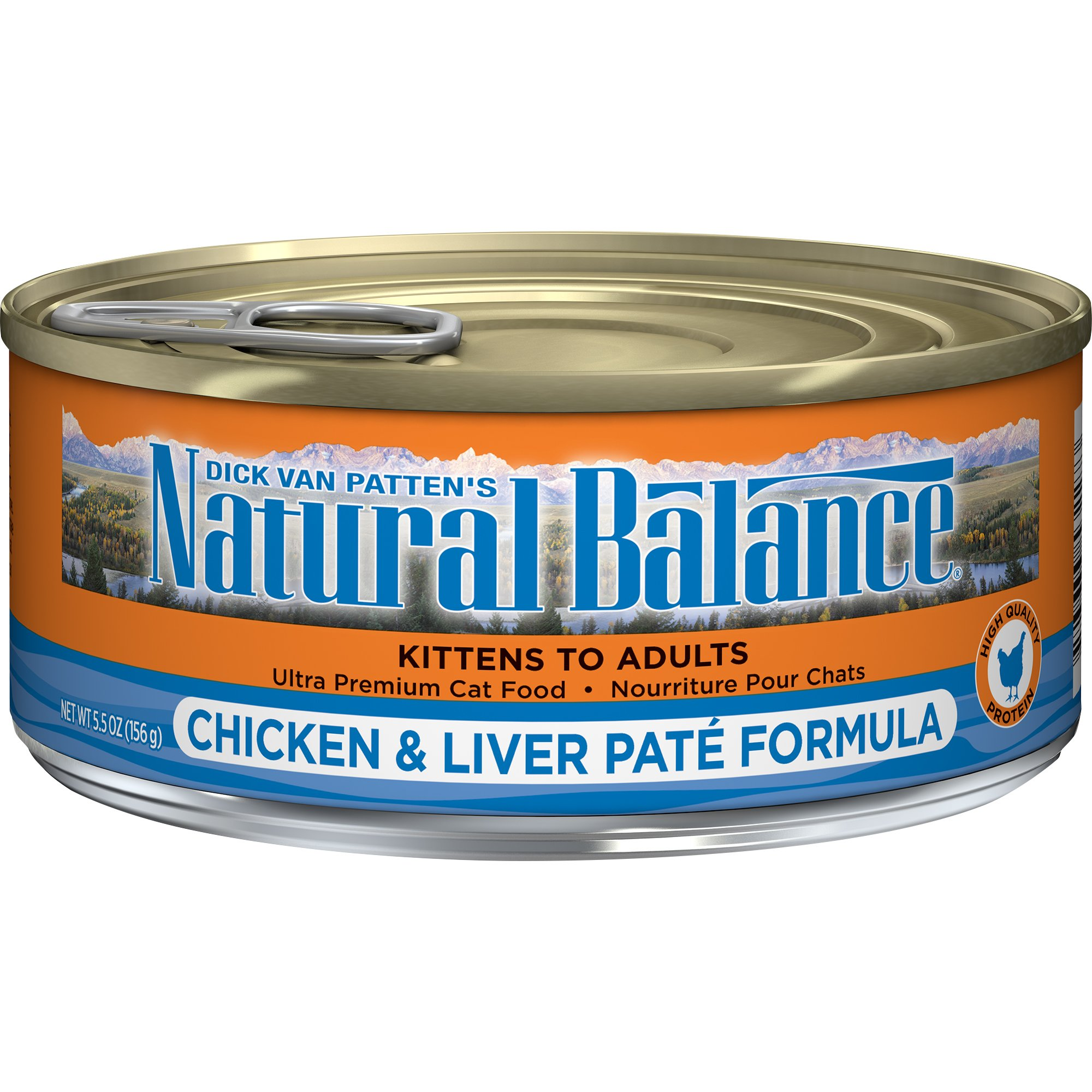Natural Balance Chicken & Liver Paté Formula Wet Cat Food, 5.5-Ounce Can (Pack Of 24) by Natural Balance