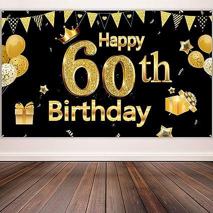 Amazon.com: Decoración para fiesta de 60 cumpleaños, cartel ...