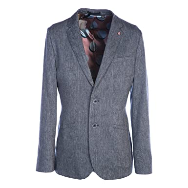 d2505a541 Amazon.com  Ted Baker Hines Jacket in Blue 38R  Clothing