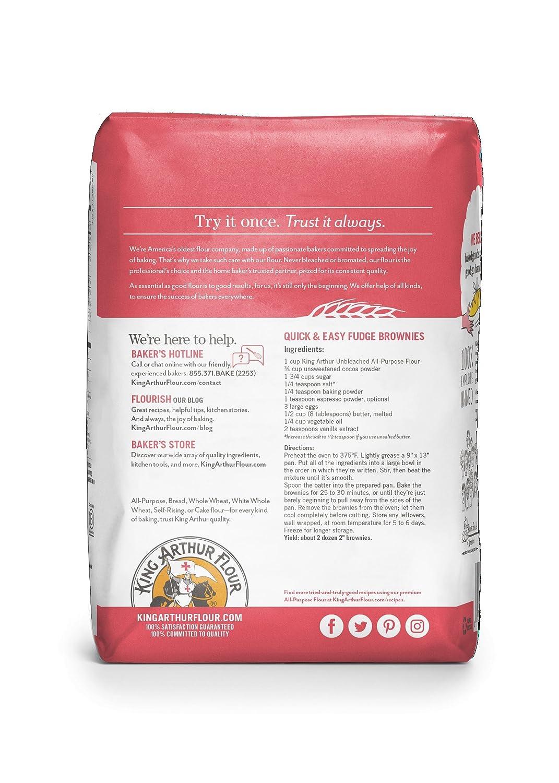 Amazon.com : King Arthur Flour All Purpose Flour, 2 pound bag, 12 ...