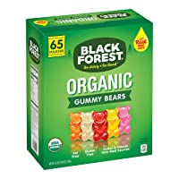65-Pack Black Forest Organic Gummy Bears Candy 0.8-Ounce Bag