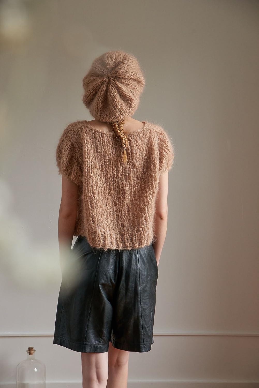 aef7f98aa2ebd Loopy Mango DIY Knit Kit MSSBER10 Beret Mohair So Soft Dark Secret