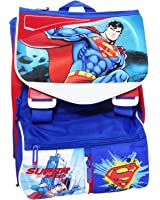 Dc Comics Superman Expandable School Backpack with Handle
