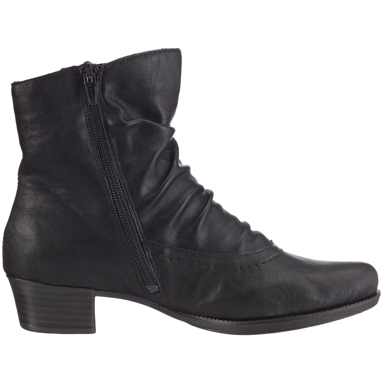 ... Rieker 76672-00 Damen Klassische Halbstiefel   Stiefeletten 00) Schwarz  (Schwarz 00) ... 48d2b2bfb8