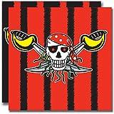 Amscan - Servilletas con diseño de piratas (33 cm), color rojo