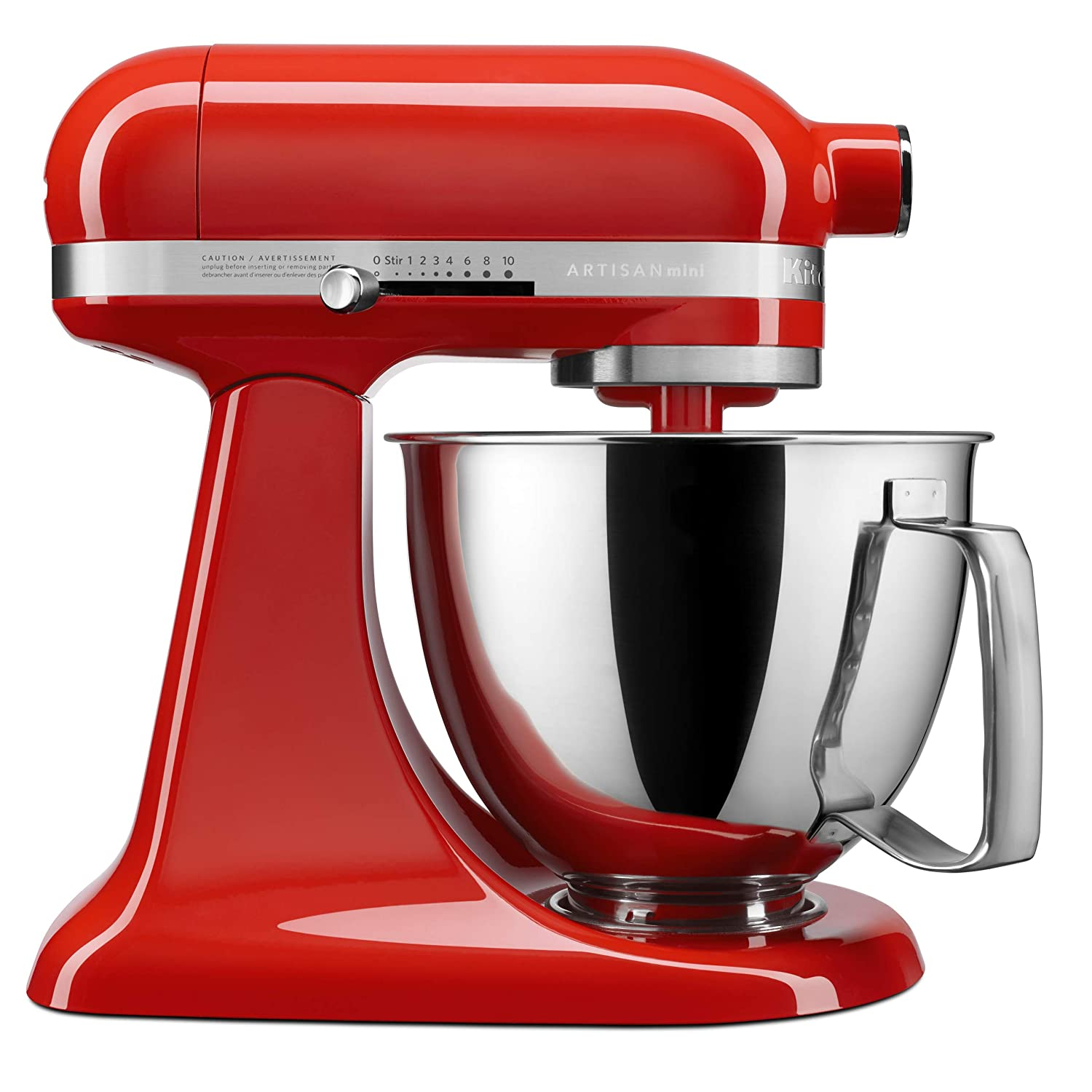 KitchenAid KSM3316XHT Artisan Mini Stand Mixers, 3.5 quart, Hot Sauce
