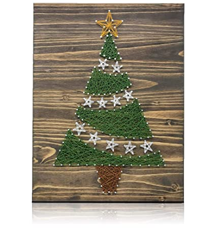 Amazon Com Christmas Tree String Art Kit Diy String Art Kit
