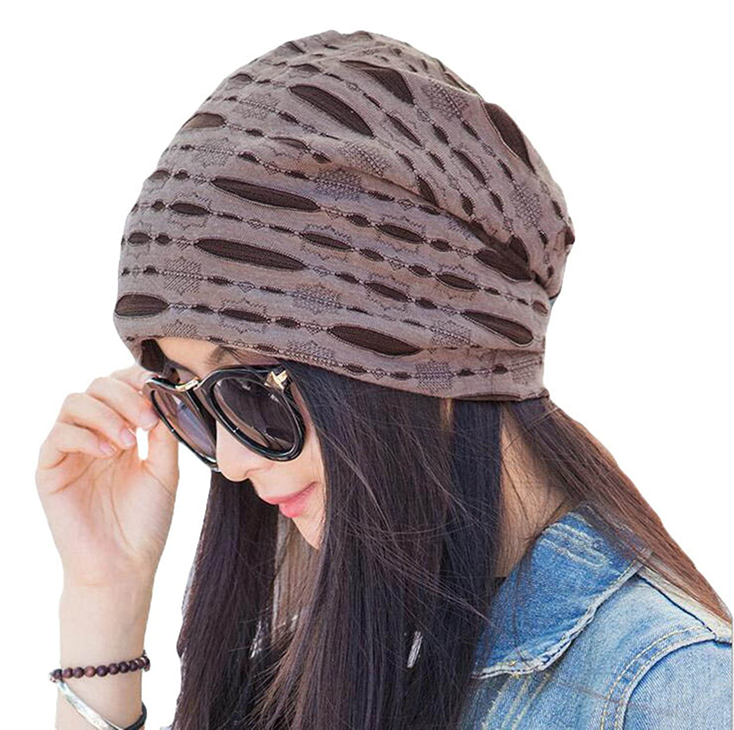 Century Star Womens Cotton Stylish Beanie Slouchy Fashionable Hats for Hairloss Cancer Chemo