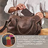 Shvigel Leather Passport Cover - Leather Passport