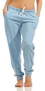 9642744710a4 Normann Damen Pyjamahose lang Tupfendesign Mix   Match ideal zum kombinieren  222 90 904