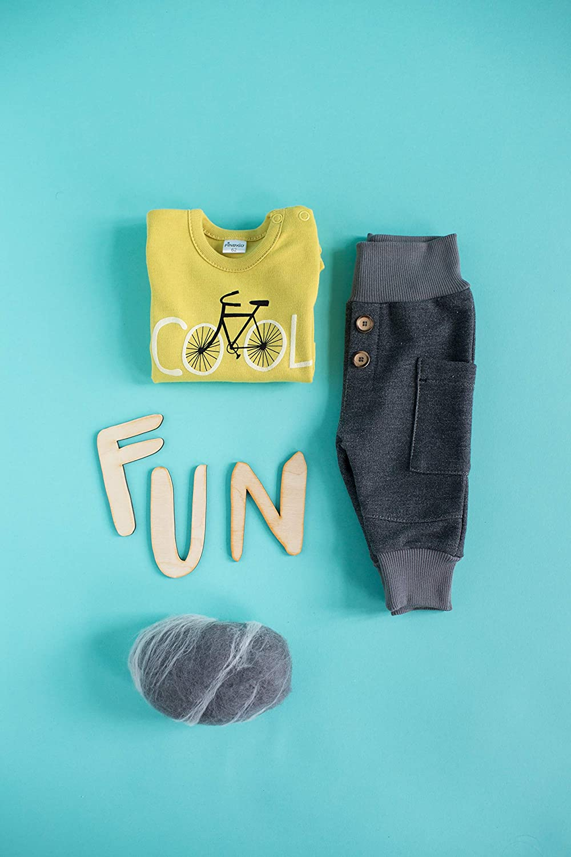 Funny Dog Pinokio Pantaloni per bambini Pantaloni Harem Pantaloni denim Pantaloni da jogging Pantaloni antiscivolo Pantaloni per bambini Ragazzi grigio 2 bottoni 62 68 74 80 86