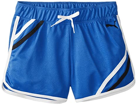 Amazon.com: PUMA Big Girls' Mesh Gym Short with Taping: Clothing